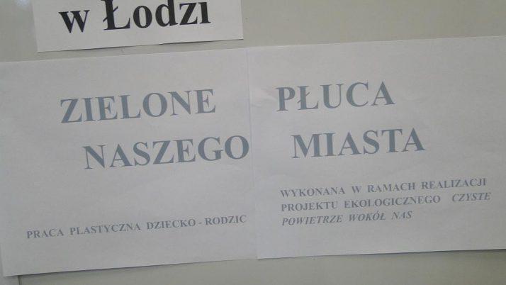"""""""ZIELONE PŁUCA NASZEGO MIASTA"""""""